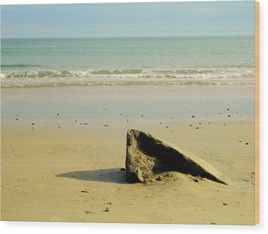 Pointed Rock At Squibby Wood Print