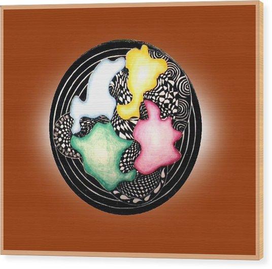 Pointless Wood Print by Gabe Art Inc