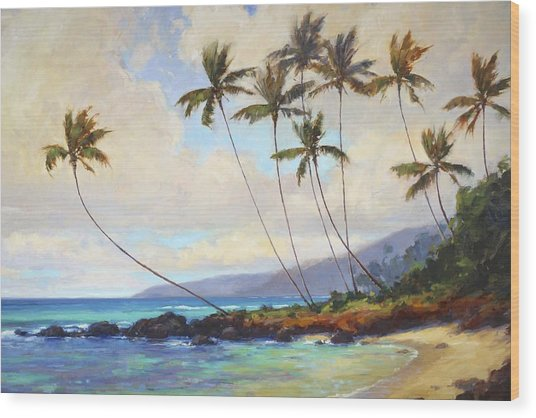Poipu Beach  Wood Print