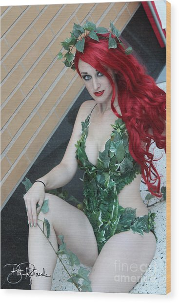 Poison Ivy - Cosplay Wood Print
