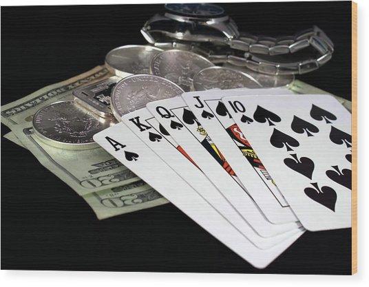 Poker - The Winning Hand Wood Print