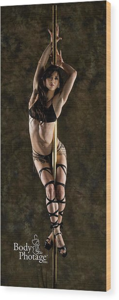 Pole Dancer Wood Print