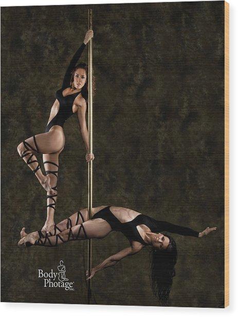 Pole Ninjas Wood Print
