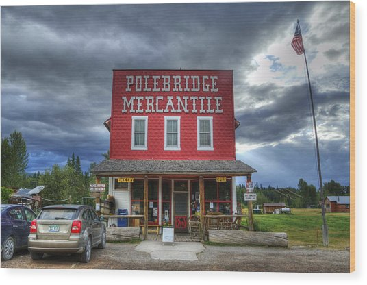 Polebridge Mercantile Wood Print