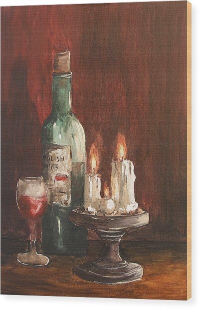 Polish Wine Wood Print