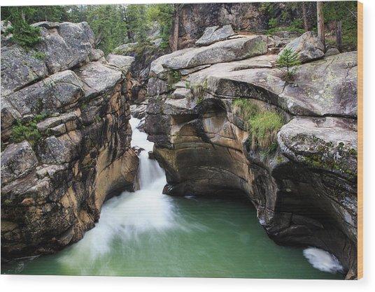 Polished Rock Wood Print
