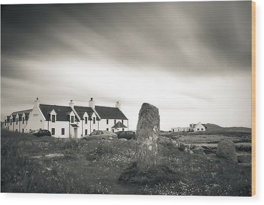 Pollochar Inn And Standing Stone Wood Print