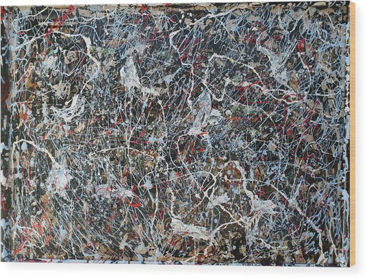 Pollock's Ghosts Wood Print by Biagio Civale