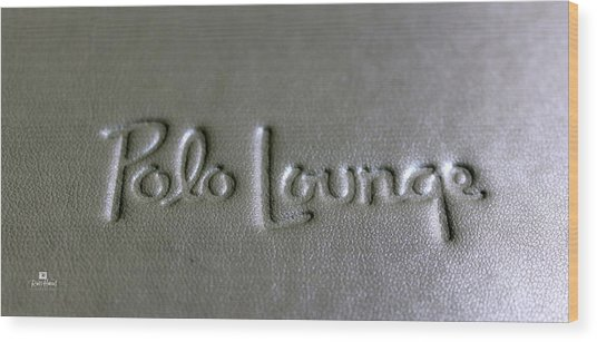 Polo Lounge Beverly Hills Wood Print