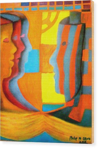 Polymorphism I Wood Print by Philip Okoro
