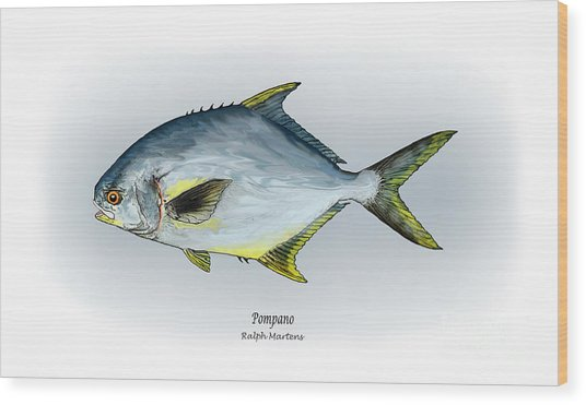Pompano Wood Print by Ralph Martens