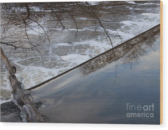 Pompton Spillway From Above Wood Print