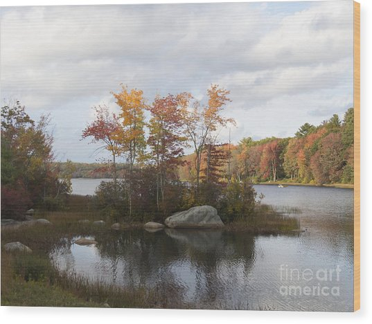 Ponaganset Autumn 2015 Wood Print