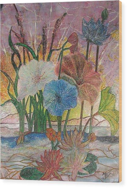 Pond Wood Print by John Vandebrooke