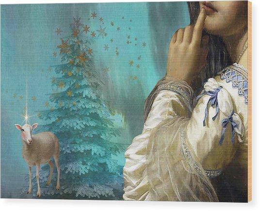 Pondering Peace Wood Print