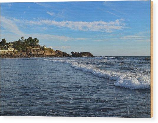 Poneloya Beach Before Sunset Wood Print