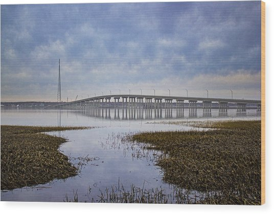 Ponquogue Bridge Hampton Bays Ny Wood Print