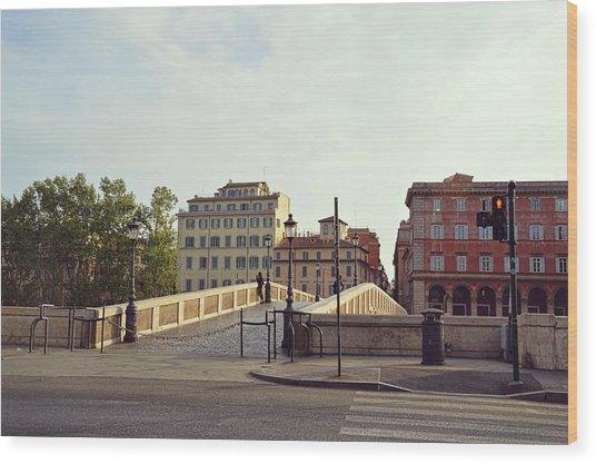 Ponte Sisto Wood Print by JAMART Photography