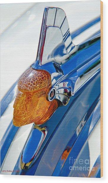 Pontiac Art Deco Hood Ornament Wood Print