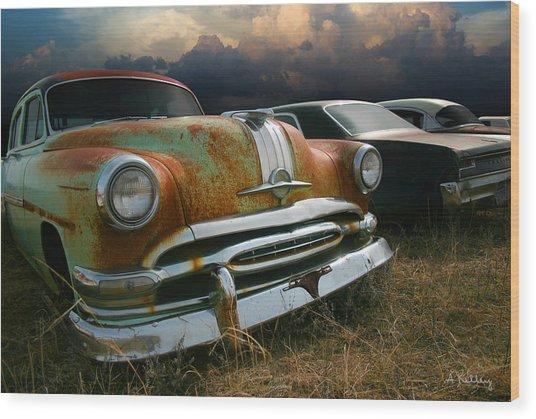 Pontiac Chieftain Wood Print by Andrea Kelley