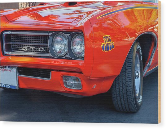 Pontiac G T O Judge 1969 Convertible Wood Print