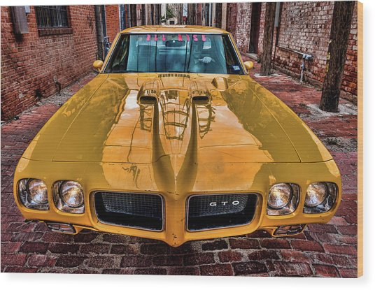 Pontiac Gto - The Judge Wood Print