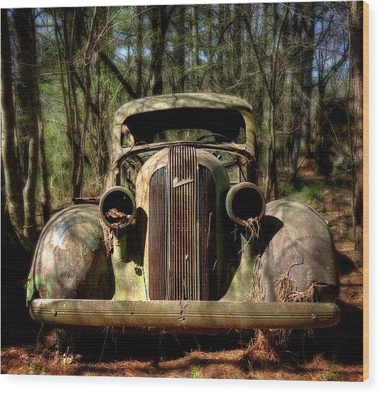 Pontiac In The Woods Wood Print
