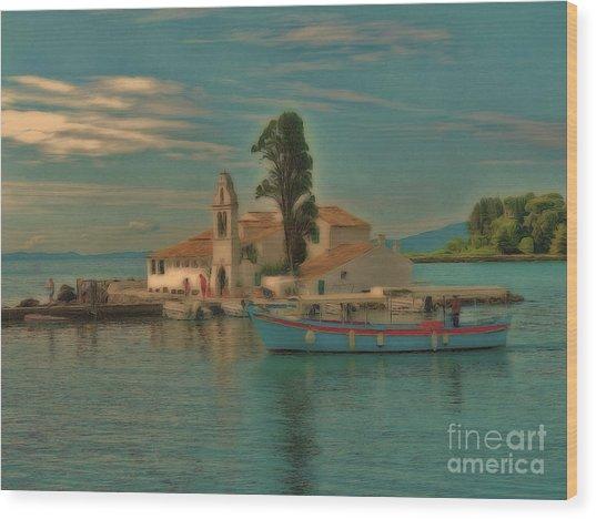 Pontikonisi Corfu Wood Print