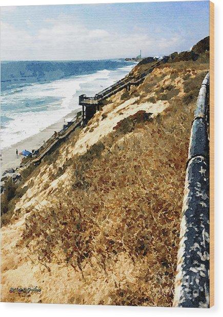 Ponto Beach, Carlsbad Wood Print