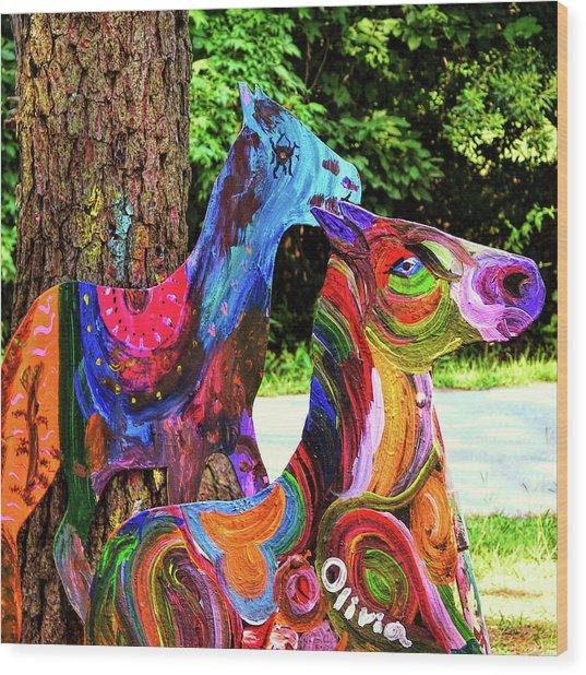 Pony Art   Wood Print