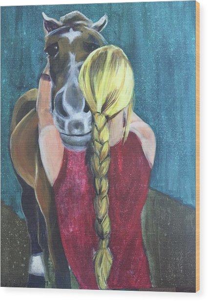 Pony Love Wood Print