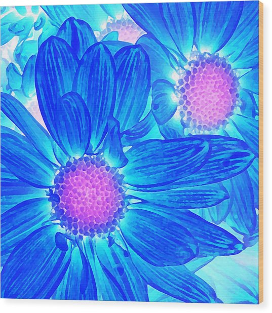 Pop Art Daisies 6 Wood Print