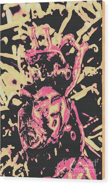Pop Art Poster Heart Wood Print