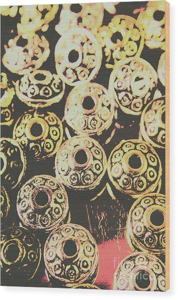Pop Art Space Invaders Wood Print