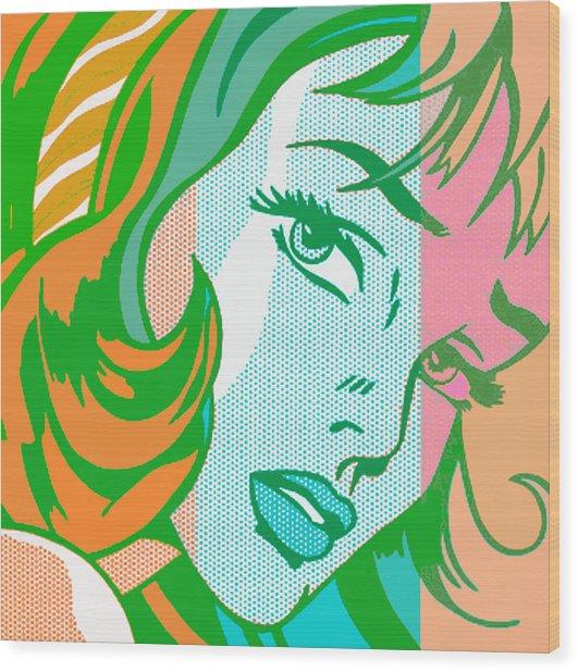 Pop Girl Wood Print