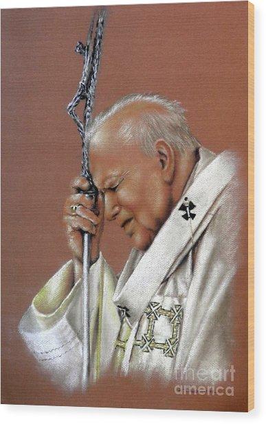 Pope John Paul. 2nd. Wood Print