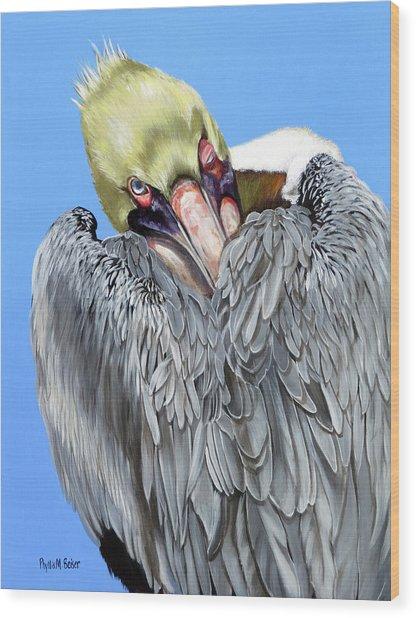 Popeye The Pelican Wood Print