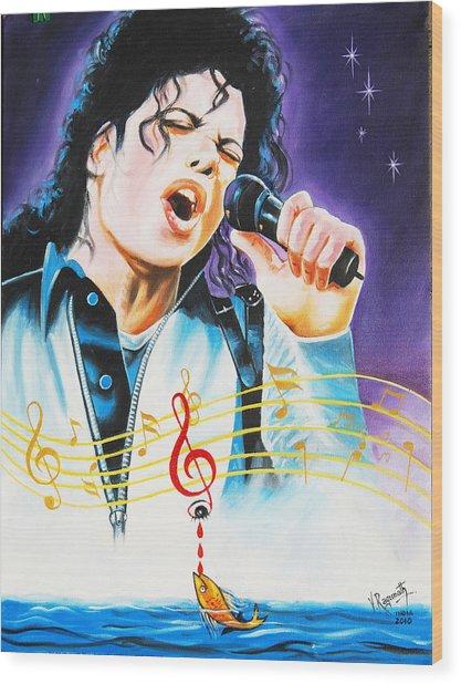 Popking Michael Jackson Wood Print
