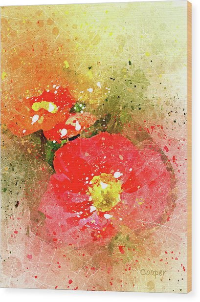 Poppies 5 S Wood Print