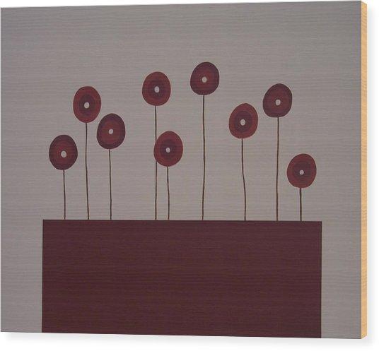 Poppies Wood Print by Sandy Bostelman