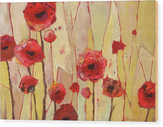 Poppy Crush Wood Print