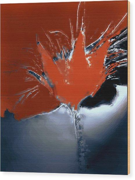 Poppy Explosion Wood Print by Irma BACKELANT GALLERIES