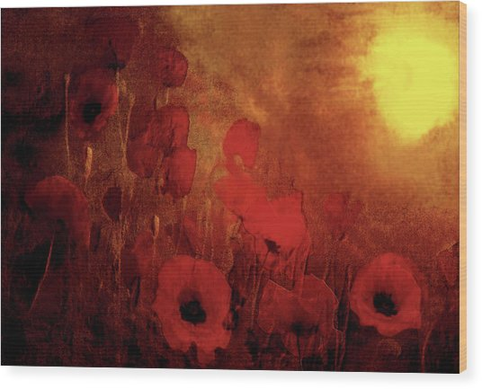 Poppy Heaven Wood Print