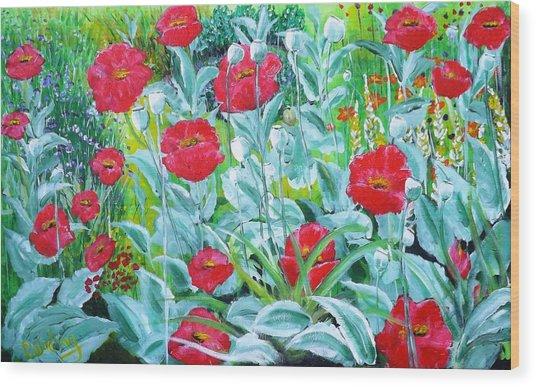 Poppy Impression Wood Print