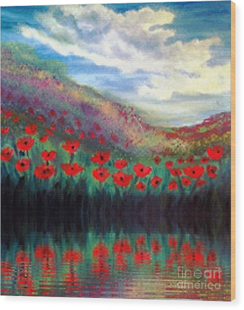 Poppy Wonderland Wood Print