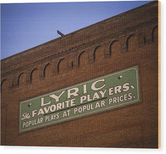 Popular Plays At Popular Prices Wood Print