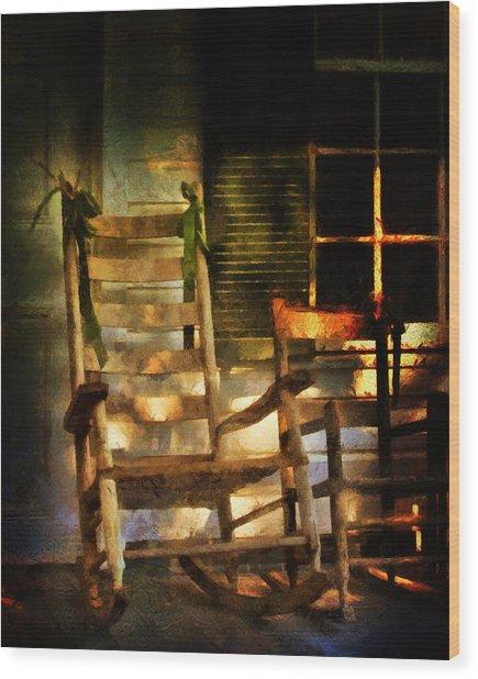 Porch Chair Wood Print