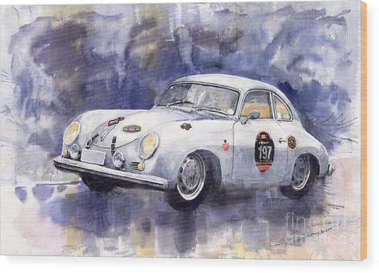 Porsche 356 Coupe Wood Print