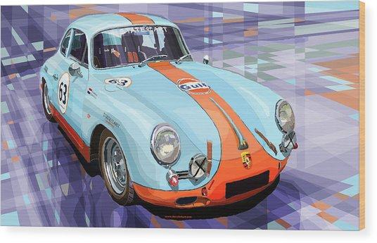 Porsche 356 Gulf Wood Print