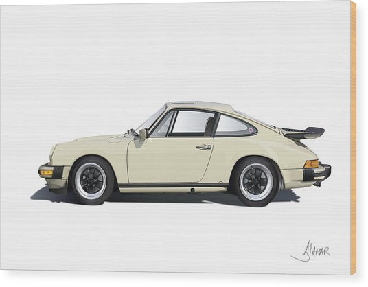 Porsche 911 Carrera Wood Print